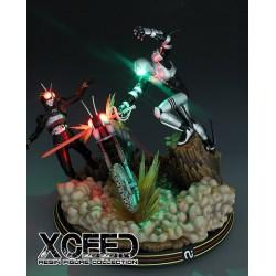 Kamen Rider Shadow Moon VS Knight Xceed