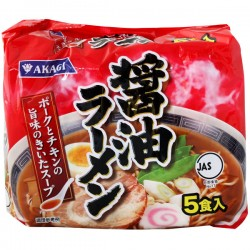 AKAGI Soy Sauce Ramen, 5 packs, 405g