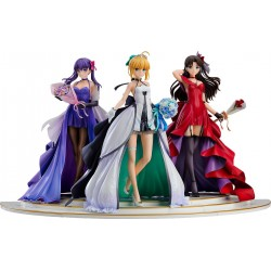 Saber, Rin Tohsaka and Sakura Matou 15th Celebration Dress Ver.