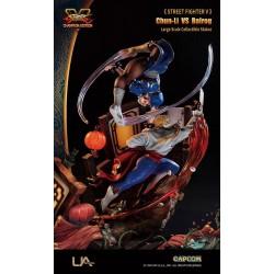 Street Fighter V Log Collection Statue Chun-Li vs Balrog