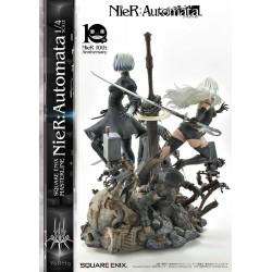 NieR Automata Statue 1/4 2B, 9S & A2 Deluxe Version