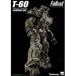 Fallout Action Figure 1/6 T-60 Camouflage Power Armor 37 cm
