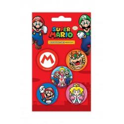 Super Mario Eraser 5-Pack Case