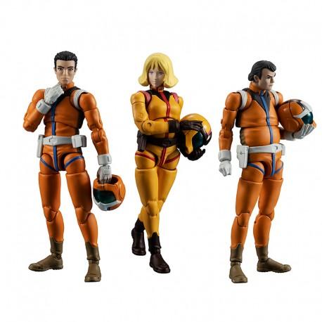 Mobile Suit Gundam G.M.G. Action Figure 3-Pack Earth Federation Force 10 cmEarth Federation Force 10 cm